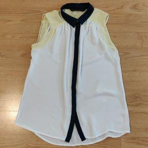 Zara Basic Sheer Blouse Size M